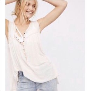 Free People | We The Free Ivory Oversized Tank Top
